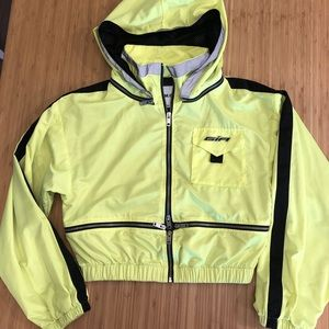I.AM.GIA neon green reflective windbreaker